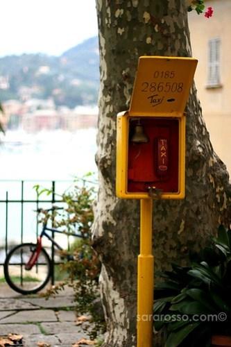 Taxi stand, Santa Margherita Ligure, Italian Riviera, Italy