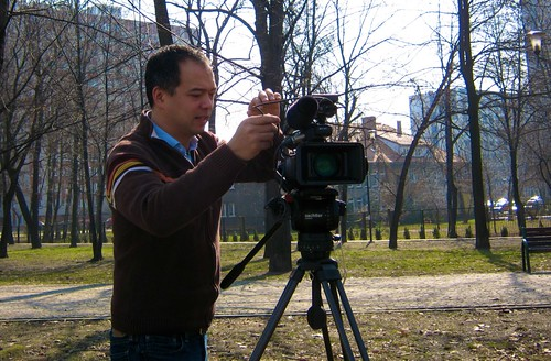 Andrew Lee ready to capture Soviet-era monumentalism --and some Canadian guy droning on about his health