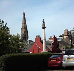 """View of War Memorial, High Street and Trinity Church from East Road, Irvine • <a style=""""font-size:0.8em;"""" href=""""http://www.flickr.com/photos/36664261@N05/4666716154/"""" target=""""_blank"""">View on Flickr</a>"""