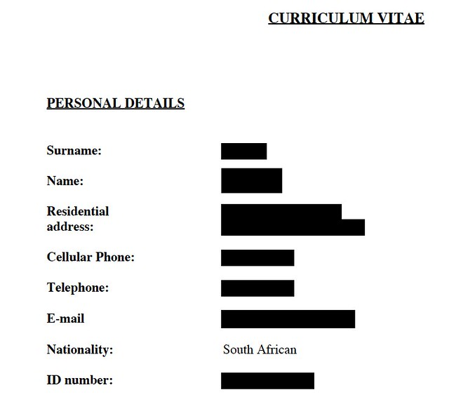 JobSpace Candidate CV