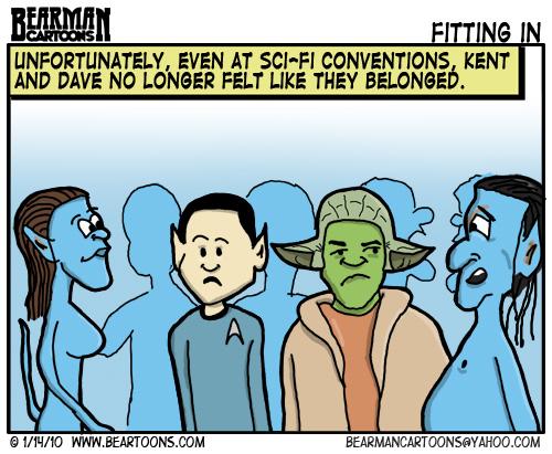 1 14 10 Bearman Cartoon Avatar Sci Fi Convention Avatar