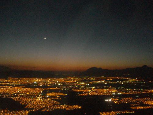 Monterrey vista do avião