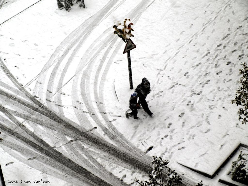 Nieve en Sant Joan Despí. Barcelona. 02