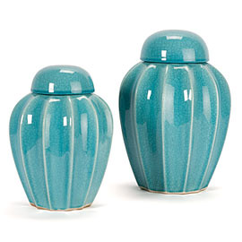 turquoise canisters z gallerie