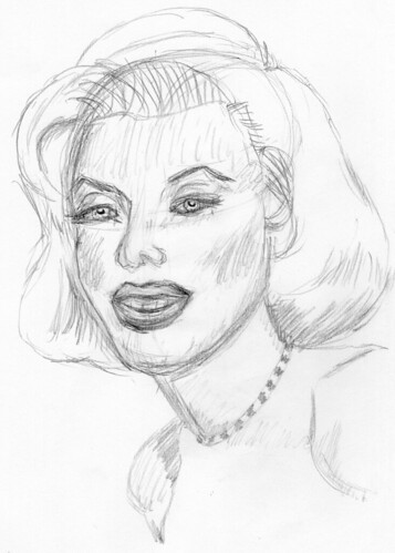 Marilyn Monroe, drawn live on April 17, 2010 (sketch 2)