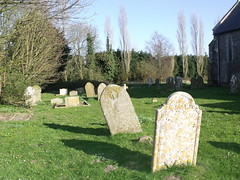 St Andrew's Church, Wood Dalling - grave stone...