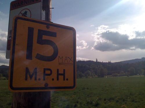 15 miles MAX
