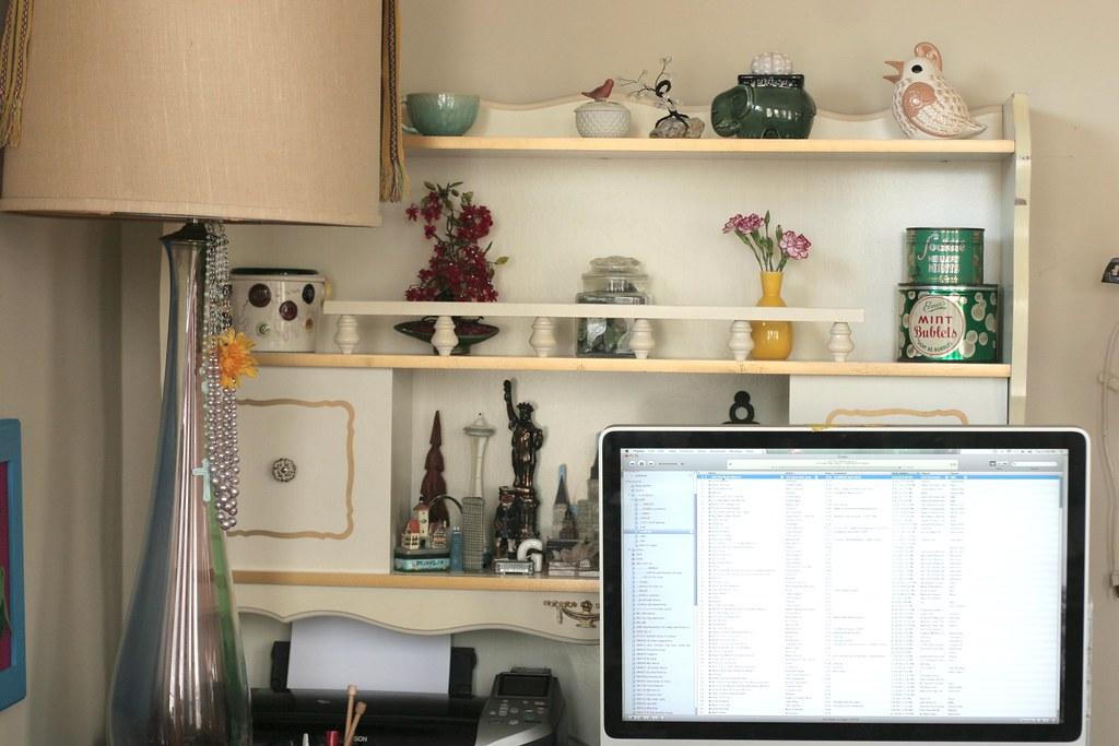 New desk shelves