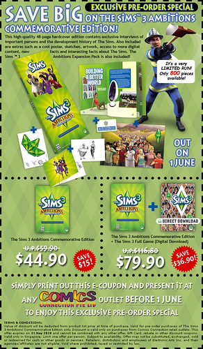 EA Singapore - save big on The Sims 3 Commemorative Edition!