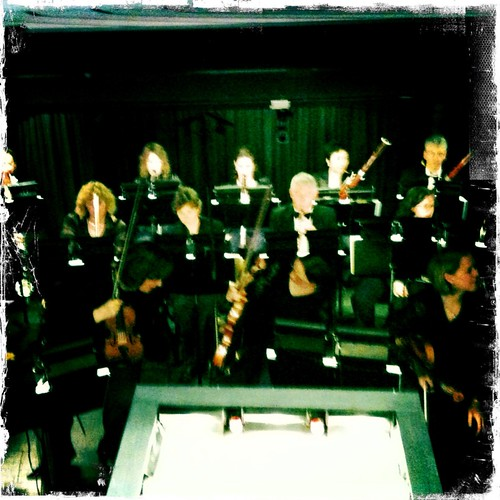 The orchestra pit, directly in front of me #opera