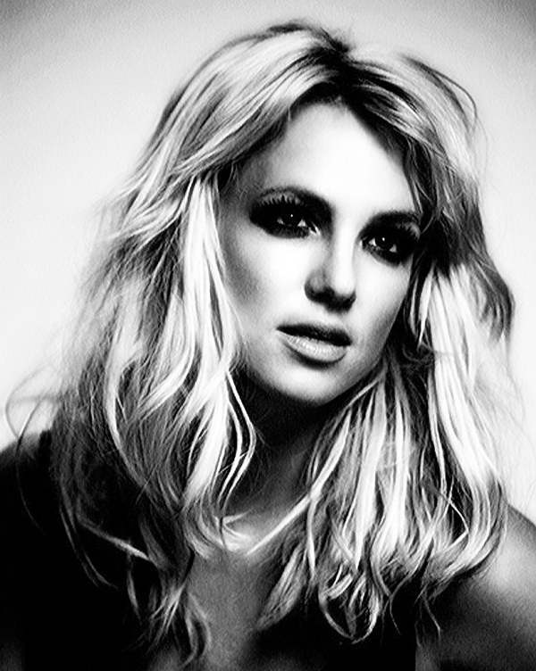 Britney Spears Black and White