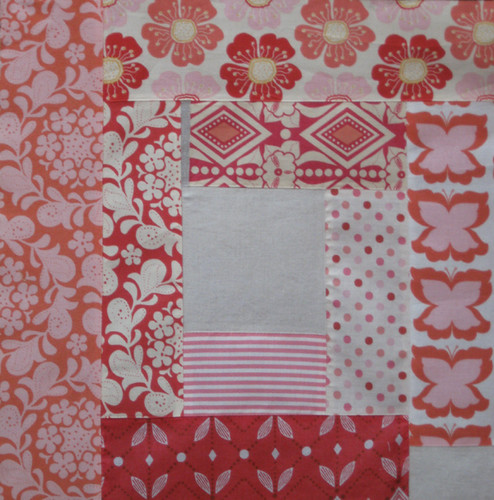 Blush Log Cabin Block