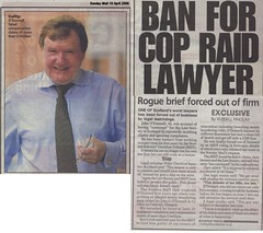 John G O Donnell Sunday Mail 19 April 2009