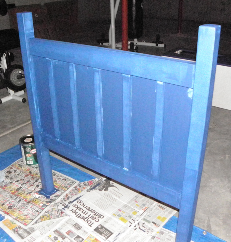 Headboard - Partially Painted