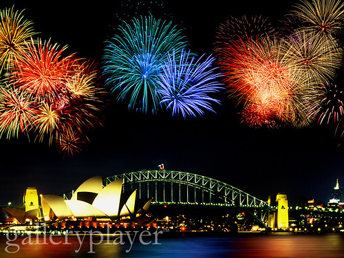 Fireworks Over Sydney Harbor Bridge, Australia