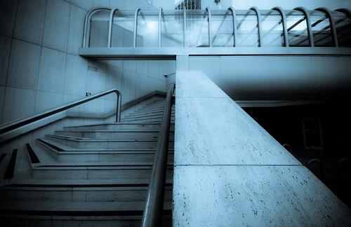 Cyanotype Steps Corridor (by orb9220)