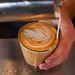 Latte pour through