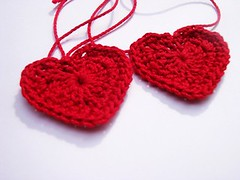 Crochet - Hearty Earrings -WIP2