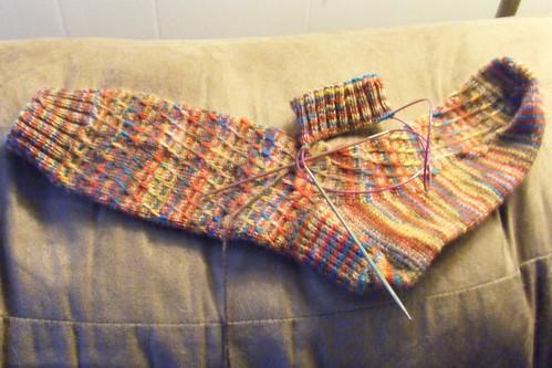February Socks (in progress)