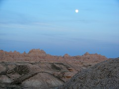 Mooon over Badlands