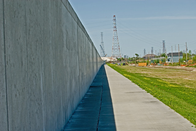Lower 9th Ward - New Orleans - New Levee Wall