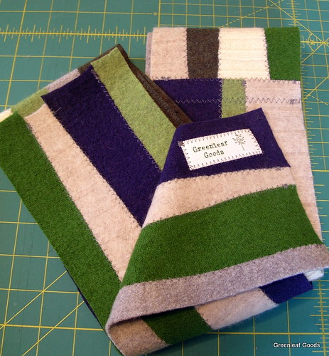 Label in a scarf