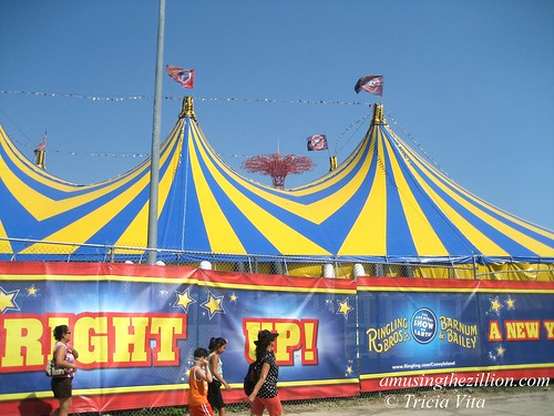 Ringling Bros. Big Top in Coney Island, August 15, 2009. Photo © Tricia Vita/me-myself-i via flickr