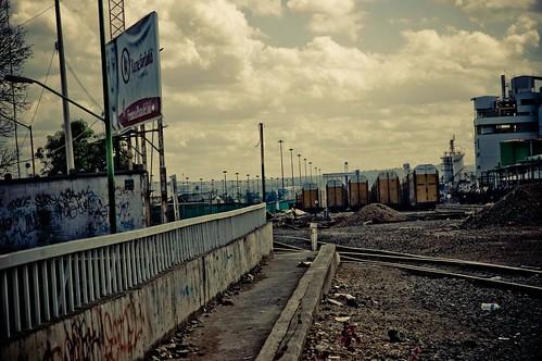Vias del Tren, sobre puente Avenida Mariano Otero