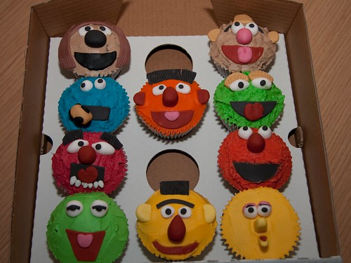 Cirencester Cupcakes - Muppets & Sesame Street Character Cupcakes