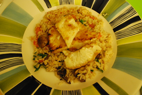 Lemon and butter fish filets