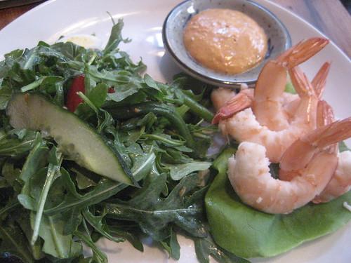 Shrimp Louis: Heirloom Beans, Olives, Arugula, Remoulade Sauce