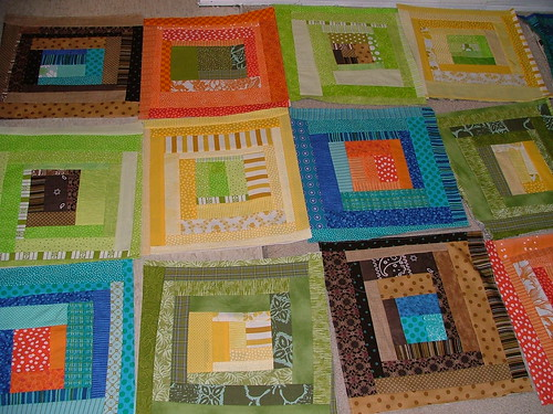 Bunk bed log cabin quilt by Ann at LassoTheMoon