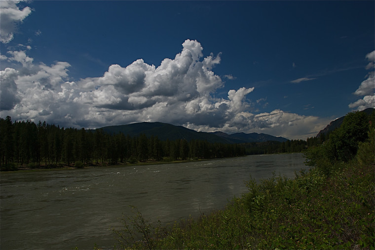 Clark Fork River during spring runoff
