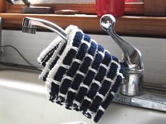 Finished kitchen dishcloth