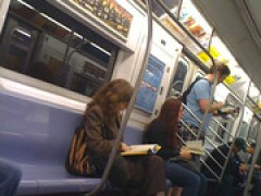 iPad in Subway