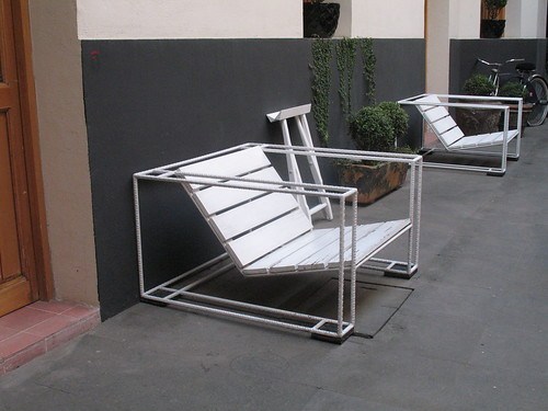 folding metal chairs wooden rocking chair styles ouno design » blog archive patio of rebar and planks