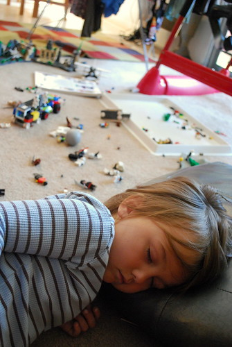 nap amongst the legos