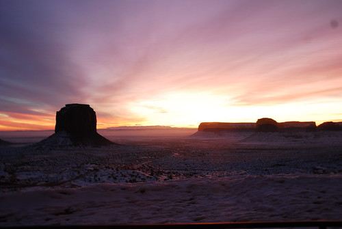 monument valley at dawn, as seen from our hotel room.