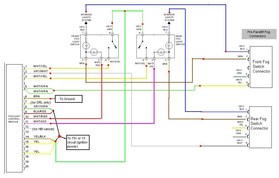wiring diagram for front fog lights er hospital management faq b5 a4 s4 center console thread archive audizine forums