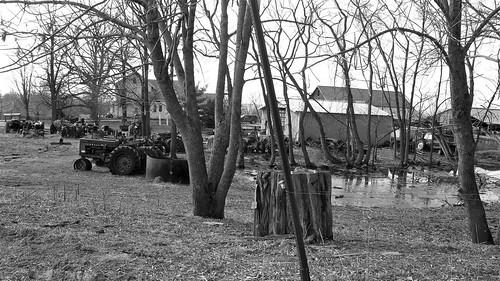 Dead tractor farm