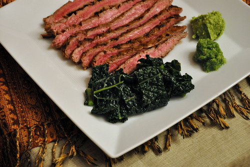 Beer-Marinated Flank Steak with Aji and Guacamole