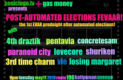 SonicLogo.TV + Gas Money presents POST-AUTOMATED ELECTIONS FEVAAR