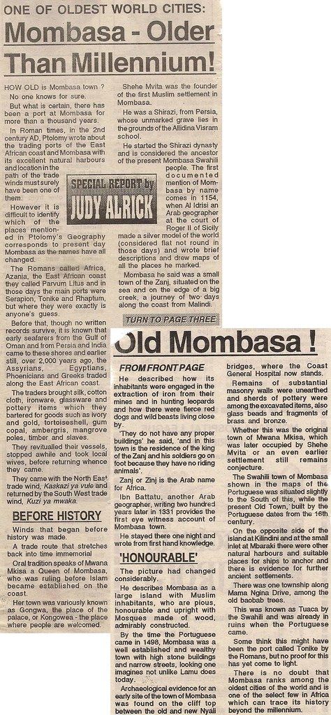 Rich history of Mombasa