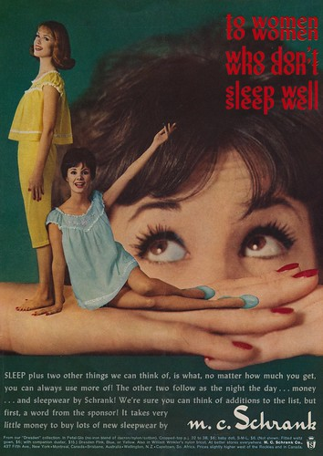 To Women Who Don't Sleep Well