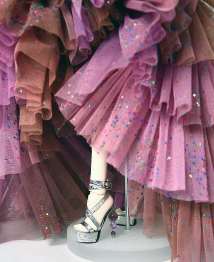 Crystal heeled shoes