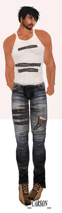 Dogstar MHOH #161 zip jeans &zip tanktop