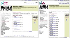 SLCC website before & after questions asked in Parliament March 2010