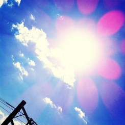 太陽まぶし~い!