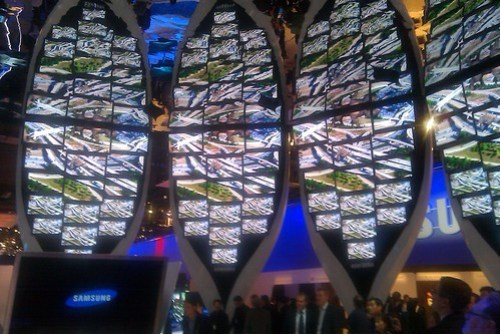 Samsung booth - even more kaleidoriffic