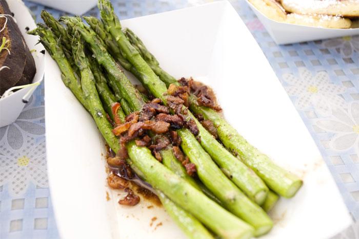 Asparagus w/ bacon